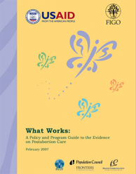 What Works: A Policy and Program Guide to the Evidence on Postabortion Care Thumbnail